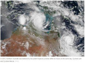 Cyclones Australia.NASA